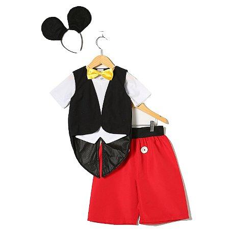 Fantasia Mickey Mouse Com 5 Peças