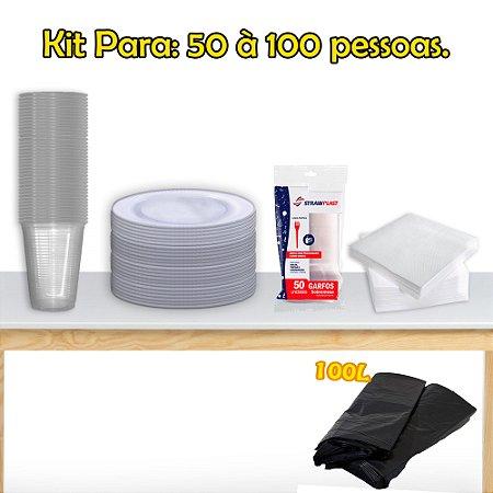 Kit Descartáveis Para 50 à 100 Pessoas.