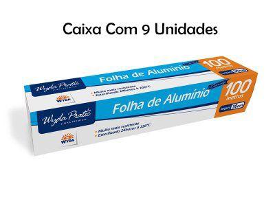 Caixa Folha de Alumínio Wyda C/9 Pacotes - 100m