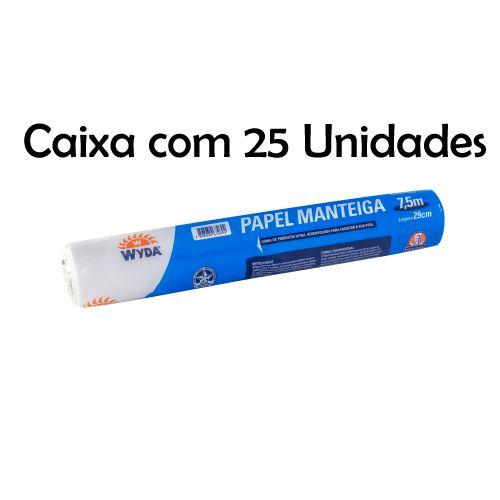 Caixa Papel Manteiga Wyda C/25 Unidades - 7,5m