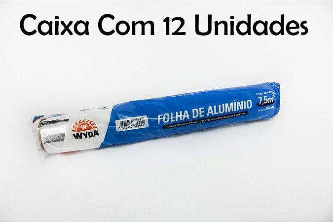 Caixa Folha de Papel Alumínio C/12 Unidades - 7,5m