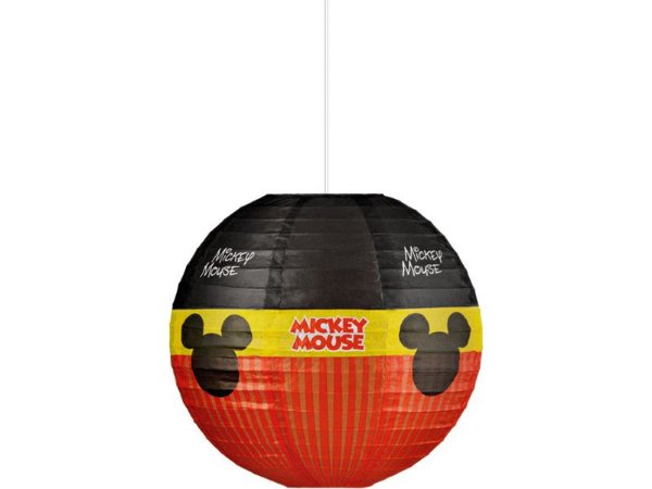 Kit Lanterna De Papel Redonda Mickey - 30cm C/10