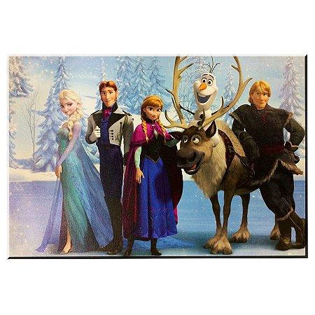 Quadro Pintura Frozen Personagens 62x41 cm