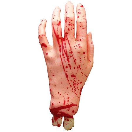 Enfeite Mão Feminina Sangrenta Halloween | Látex