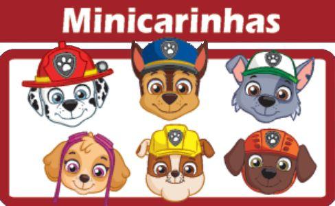 Mini Carinhas Patrulha Canina E.V.A C/06
