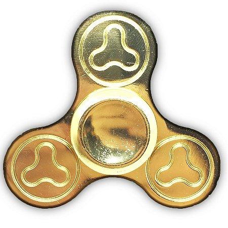 Hand Spinner 3 Pontas Dourado Aço