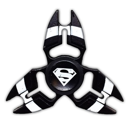 Hand Spinner 3 Pontas Preto SuperMan