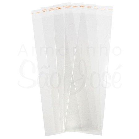 Saco Adesivado Transparente 8X35cm C/100