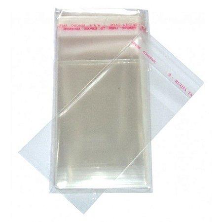 Embalagem Saco Adesivado Transparente 10X25cm C/100