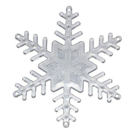 Flocos de Neve Transparente 7,5cm C/4