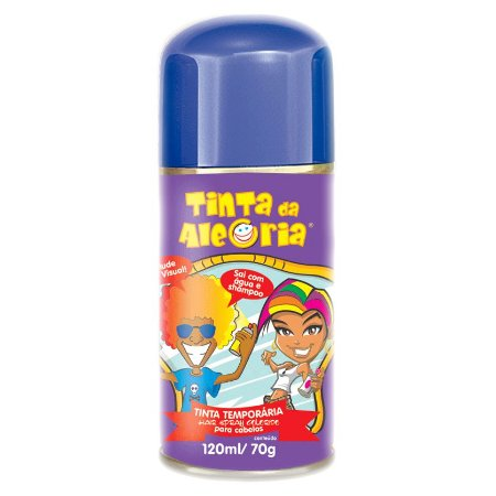 Tinta Colorida Para Cabelo Em Spray | 120ml | 3 Unidades