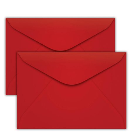 Caixa Envelope Vermelho Scrity 144x162mm C/100