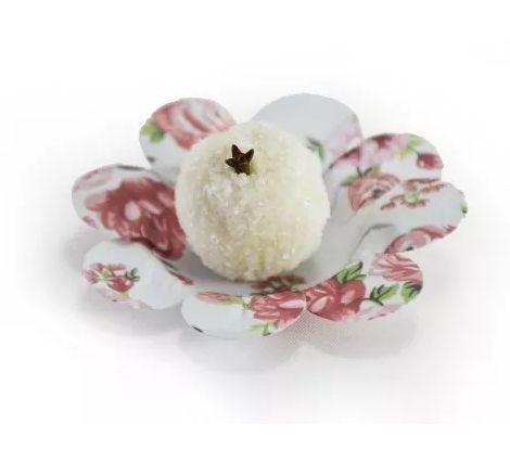 Kit Mini Forminha P/doces Papel Floral 2 Pacotes C/50un Cada