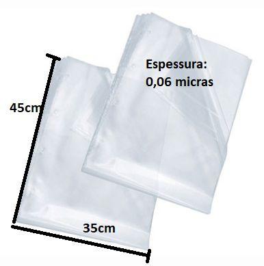 Saco Plástico transparente 35x45 cm 1kg