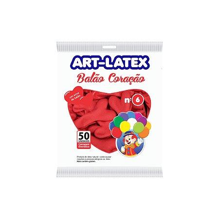 Balão / Bexiga Coração Nº 6 C/50 Art-latex