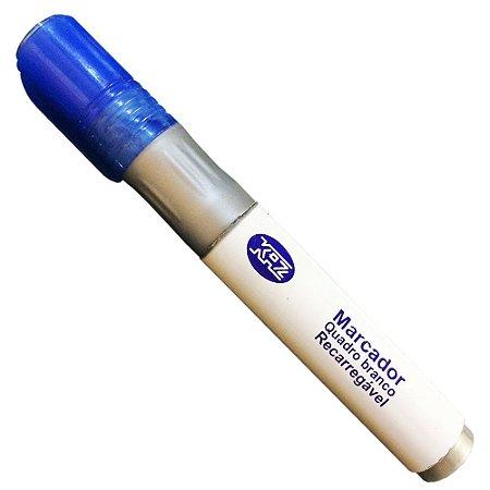 Marcador Para Quadro Branco Recarregável Azul