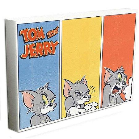 Painel | Quadro Tecido Canvas Tom and Jerry | 40x50