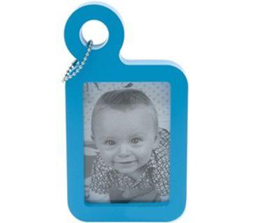 Porta-Retrato Tag P/ Mala Pequeno Em Plástico