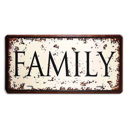 Placa Em Metal | FAMILY