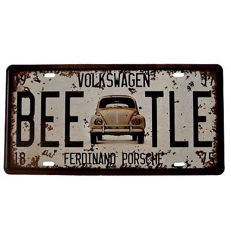 Placa Metal Beetle Volkswagen clássico