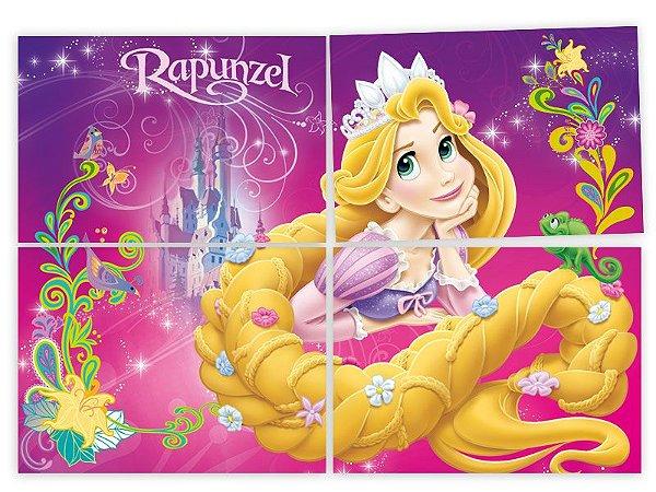 Painel Decorativo 4 Partes Rapunzel