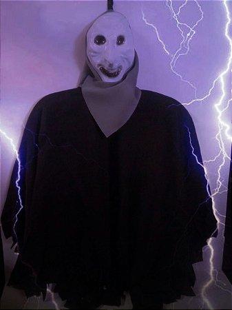 Enfeite Halloween Caveira Tecido Preto  Para Pendurar
