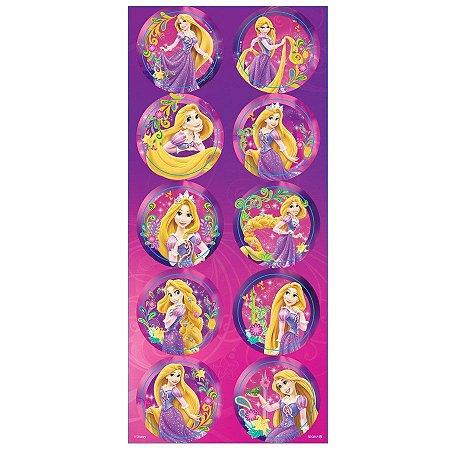 Adesivo Decorativo Redondo Rapunzel
