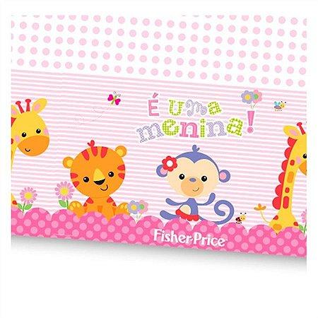 Toalha de Mesa Plástica Fisher Price ''É uma menina!''