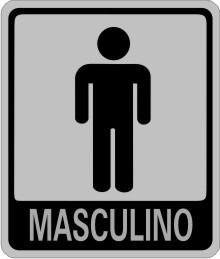 Placas Sinalizadoras Banheiro Masculino
