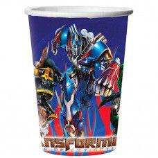 Copo Descartável Transformers 330ml C/8