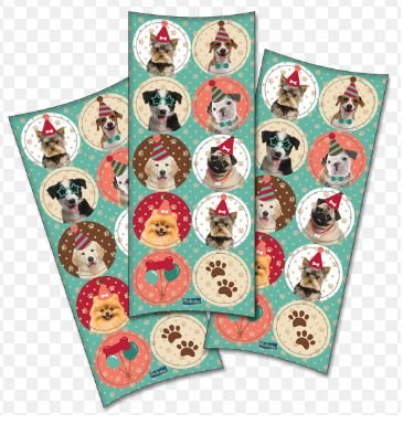 Adesivo Decorativo Redondo Dogs
