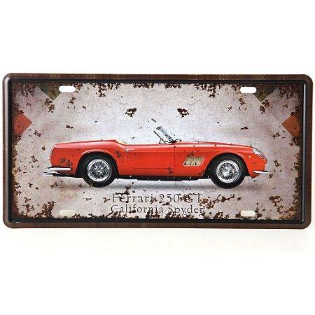 Placa Metal Ferrari 250 GT California Spyder