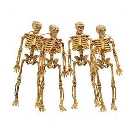 Varal com 4 Esqueletos Halloween