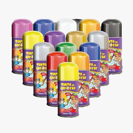 Tinta Colorida Para Cabelo Em Spray   120ml   C/10