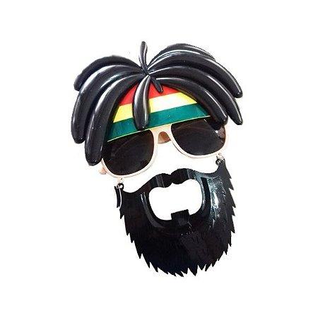 Óculos Reggae com Barba Fantasia