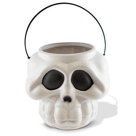 Balde Esqueleto / Caveira Halloween | Grande | Kit C/20
