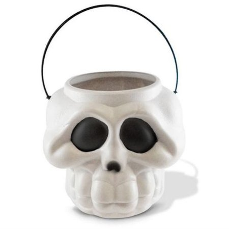 Balde Esqueleto / Caveira Halloween   Grande   Kit C/50