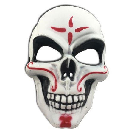 Mascara Caveira Mexicana Vermelha Halloween