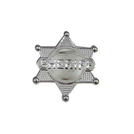 Broche Estrela Xerife Prata