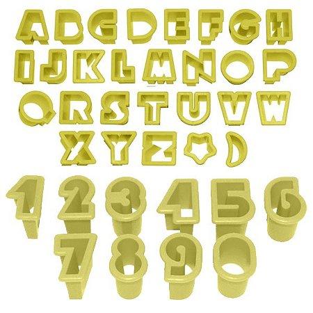Cortador de Letras e Números Com 38 Peças