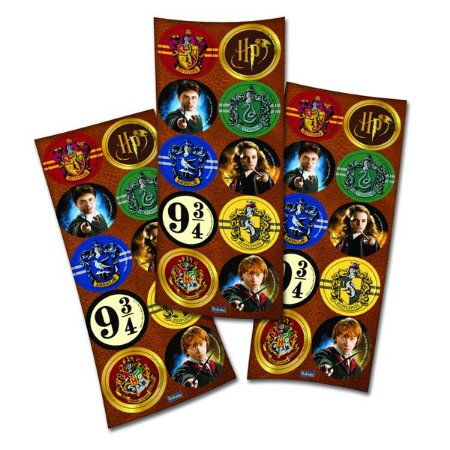 Adesivo Decorativo Redondo Harry Potter C/30