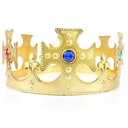 Kit Coroa Rei Plástica Ajustável C/10