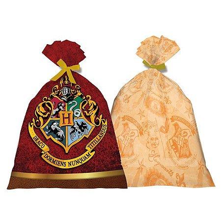 Sacola Plástica Harry Potter C/8