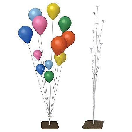 2un Suporte Varetas Balão Efeito Gás Hélio Com P/ 24 Balões
