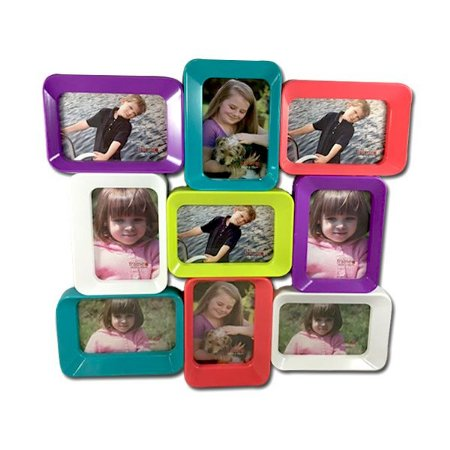 Quadro Colorido com 9 Fotos 10x15