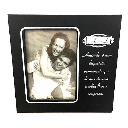 Porta Retrato Madeira Amizade 10x15