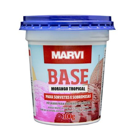 Base Sorvete e Sobremesa Morango Tropical MARVI 100g