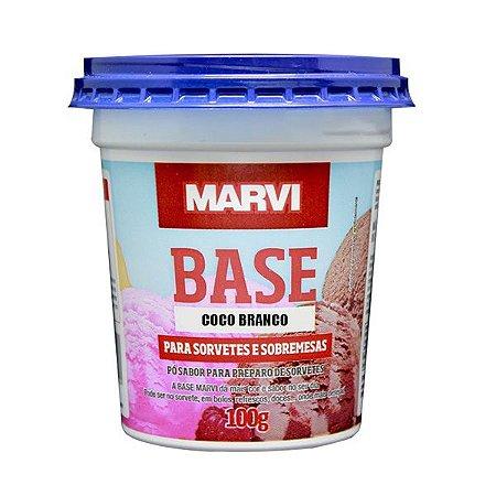 Base Sorvete e Sobremesa Coco Branco MARVI 100g