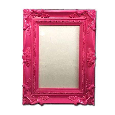 Porta Retrato Moldura Rosa Quinas 10x15