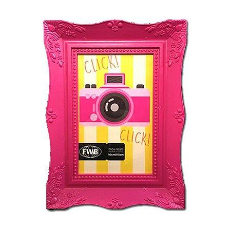 Porta Retrato Moldura Rosa Funda 10x15